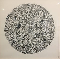 Microtelescopic Field of View I, Halsey Chait, Abstract Drawing, Circle