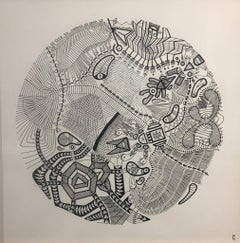 Microtelescopic Field of View, Halsey Chait, Abstract Drawing, Circle
