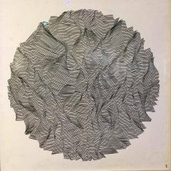 Sapath II, Halsey Chait, Abstract Drawing, Geometric, Circle, Black, White