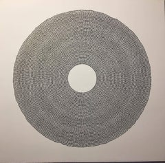 Starbirth III, Halsey Chait, Abstract Drawing, Circle, Black, White