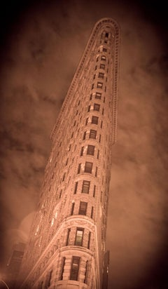 """Flatiron Building"", Urban Photography, Architecture, New York City, Sepia"