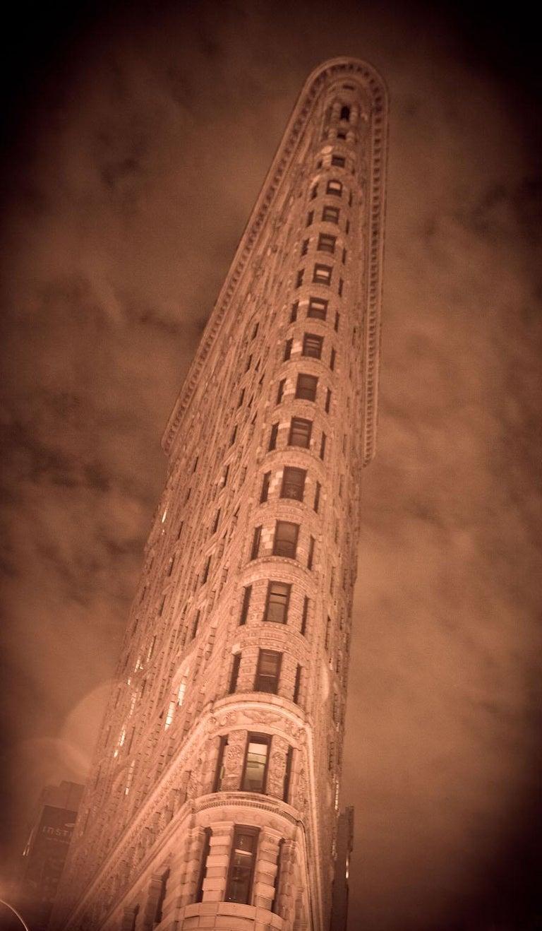 "Allen Singer Landscape Photograph - ""Flatiron Building"", Urban Photography, Architecture, New York City, Sepia"
