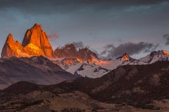 """Sunrise, Patagonia"", Color Nature Photography, Landscape, Mountains, Vista"