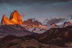 """Sunrise, Patagonia"", Color Nature Photography, Landscape, Mountains, Vista"
