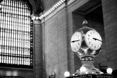 """Grand Central Station"", Black and White Urban Photography, Architecture, Clock"