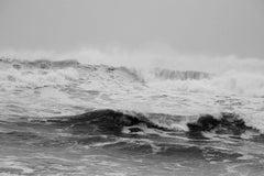 """""""Rough Surf, Montauk"""", Black & White Nature Photography, Seascape, Landscape"""