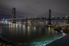 """Brooklyn Bridge Park"", Urban Cityscape, Color Photography, New York City, Night"