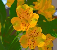"""""""Sunny Day"""", Color Nature Print, Yellow Flowers, Graphic Design"""