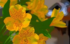 """""""Sunny"""", Color Nature Print, Yellow Flowers, Graphic Design"""