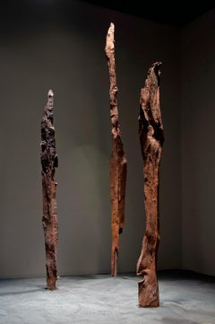 """Three Strikes"" Abstract, Cast Iron Metal Sculpture by John Ruppert"