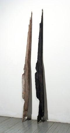 """Twin Strikes"" Abstract, Cast Iron Metal Sculpture by John Ruppert"