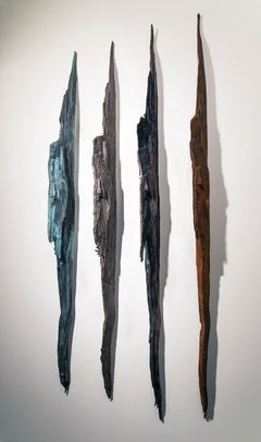"""Wall Strikes II"" Abstract, Cast Metal Wall Sculpture by John Ruppert"