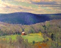 """Connecticut Hills #2"", Oil Landscape Painting on Wood by Richard Rosenblatt"