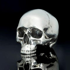 Limited Edition Sterling Silver model of a Life-size Skull by Hancocks