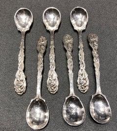 Omar Ramsden Six cast silver spoons circa 1930