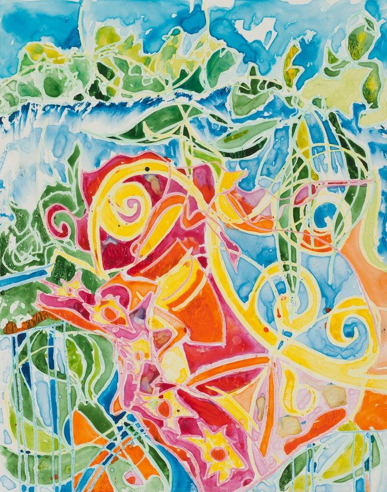 Karen Lee Sobol Abstract Drawing - Serenade