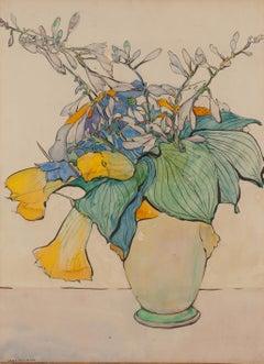 Squash in Yellow Vase
