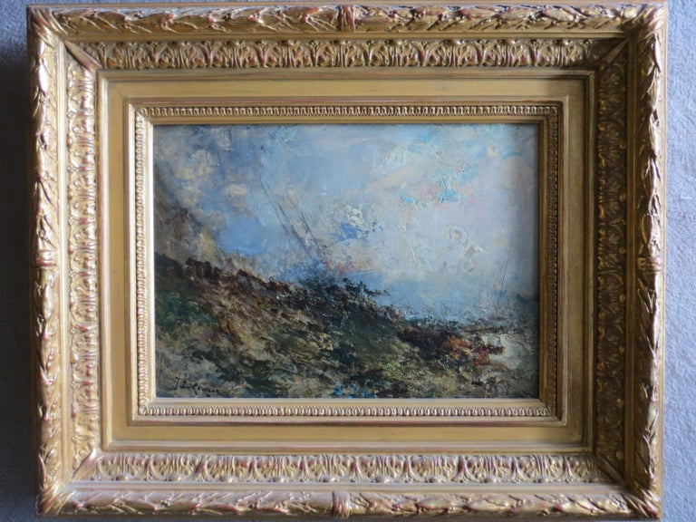 Karnec Jean Etienne Figurative Painting - Seescape Bretany signed Karnec