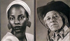 Portraits of Native and African American by Joseph TOTORA