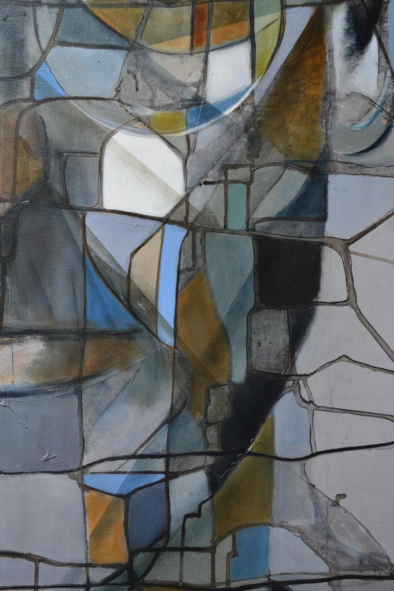 Steve II - Abstract Painting by Fréderique Assaël