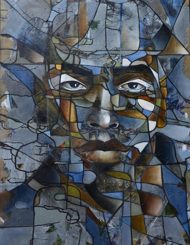 Fréderique Assaël Abstract Painting - Lenny Kravitz