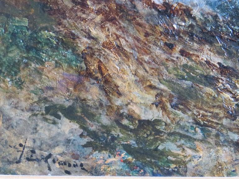Seescape Bretany signed Karnec - Impressionist Painting by Karnec Jean Etienne