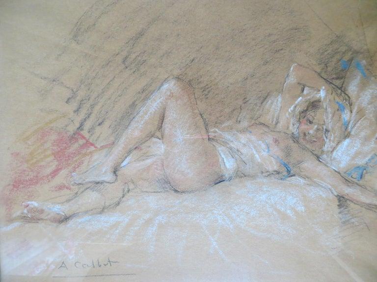 Nude Slumbers - Impressionist Art by Antoine Calbet