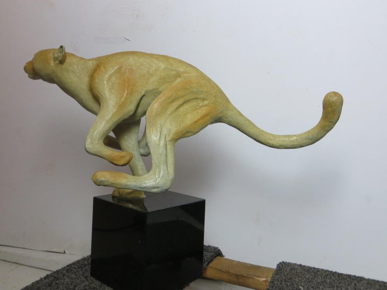 Cheetah in Bronze  For Sale 8
