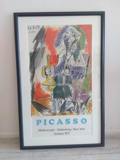 """Man with Horn,"""" Rare Original Poster after Pablo Picasso"""