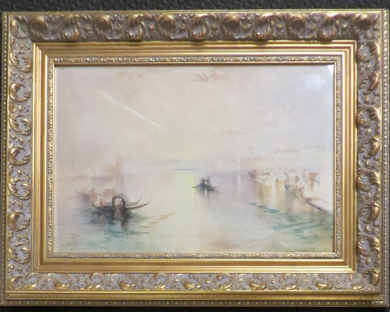 After Turner Pair of Venetian Canal Scenes  - Impressionist Art by Unknown