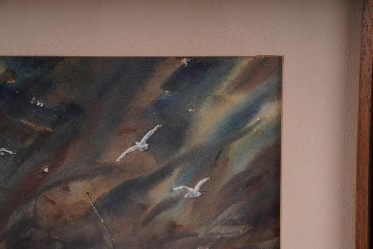 Pair  Scene Harbor Watercolor For Sale 1