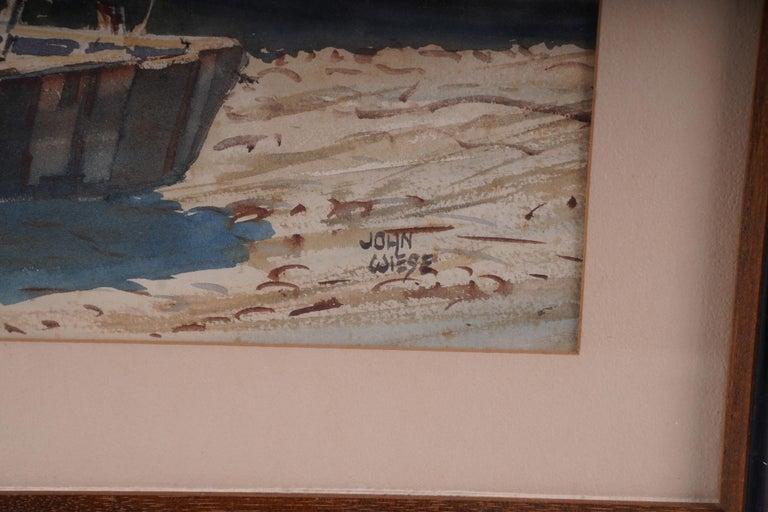 Pair  Scene Harbor Watercolor For Sale 2
