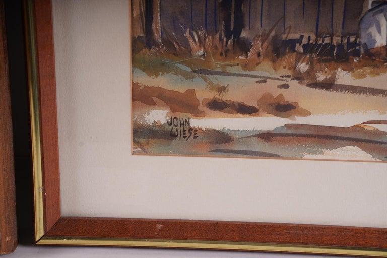 Pair  Scene Harbor Watercolor For Sale 3