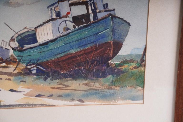 Pair  Scene Harbor Watercolor For Sale 4