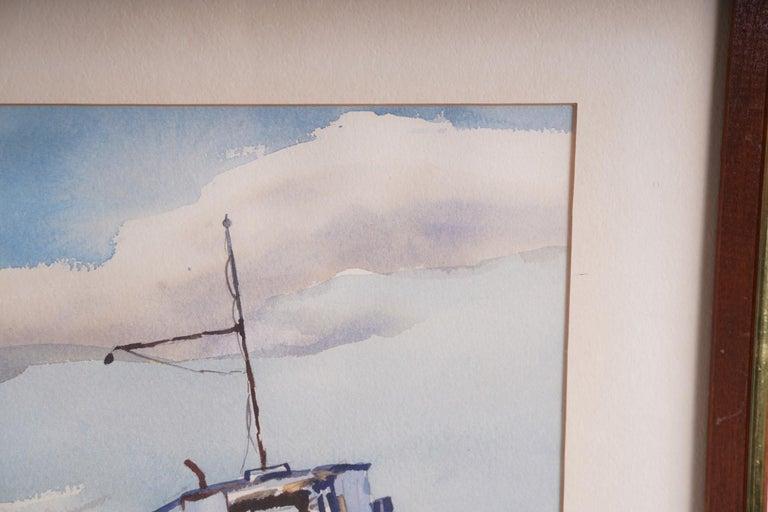 Pair  Scene Harbor Watercolor For Sale 5