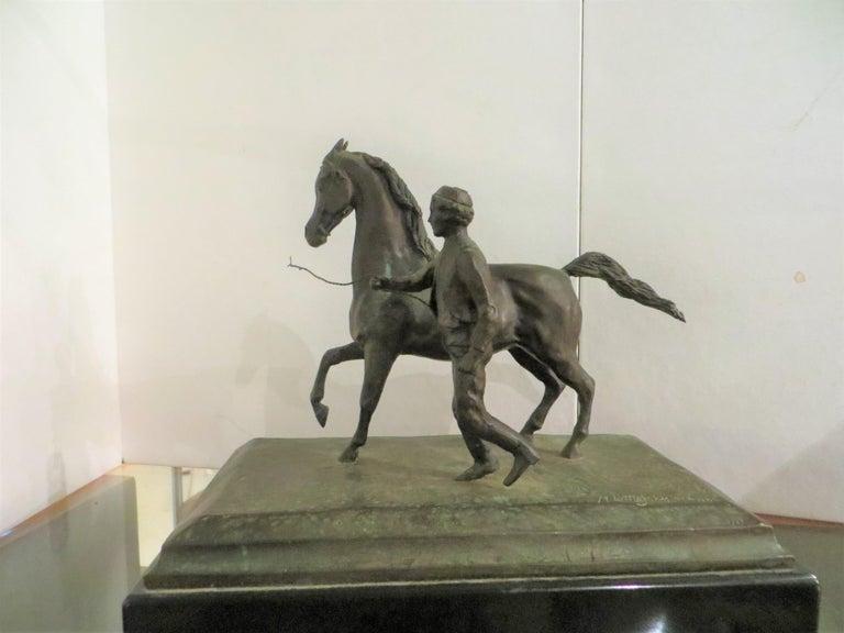 Littlejohn Melinda - Horse with boy For Sale at 1stDibs