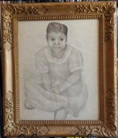 Little Girl Portrait by Carlos Orozco Romero