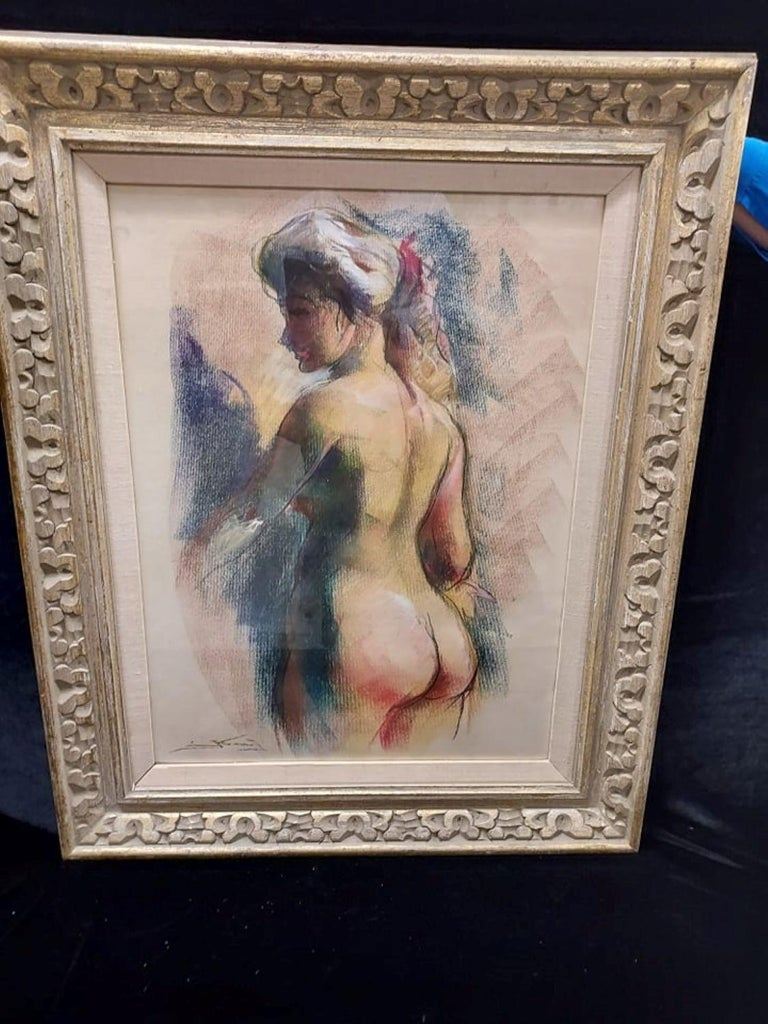 Nude Pastel by Emil Kosa Jr - Art by Emil Kosa Jr.