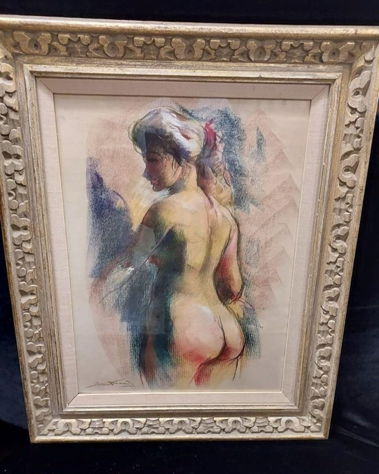 Nude Pastel by Emil Kosa Jr - American Impressionist Art by Emil Kosa Jr.
