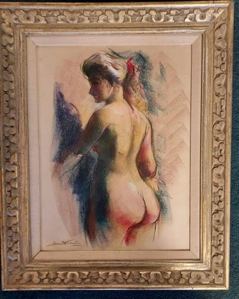 Emil Kosa Jr. Figurative Art - Nude Pastel by Emil Kosa Jr