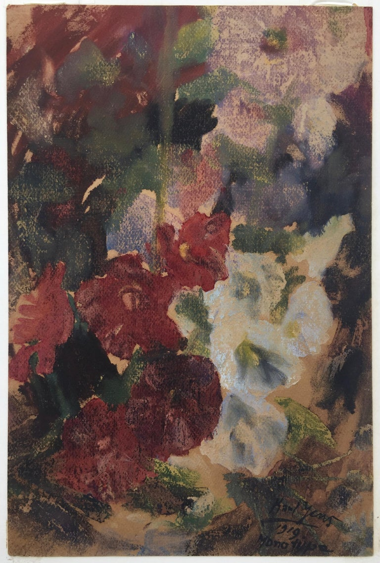 Karl Yens Landscape Print - FLOWERS - Monotype from 1997 Smithsonian Exhibition