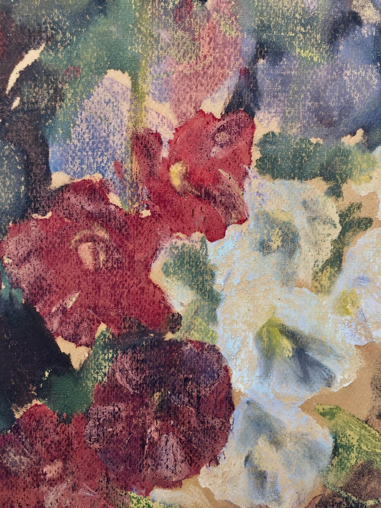FLOWERS - Monotype from 1997 Smithsonian Exhibition - American Impressionist Print by Karl Yens