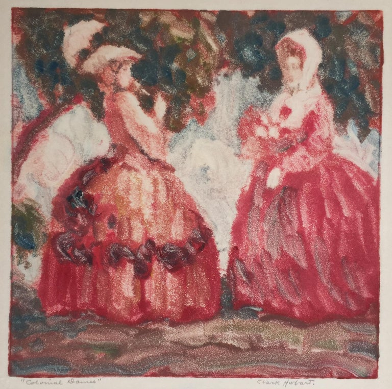 Clark Hobart Landscape Art - Colonial Dames