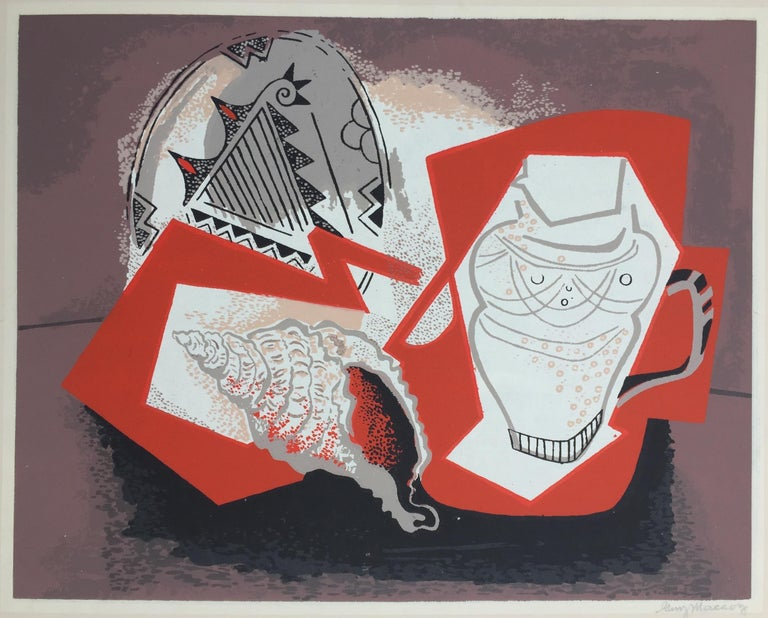 Guy MacCoy Abstract Print - Abstract Still Life