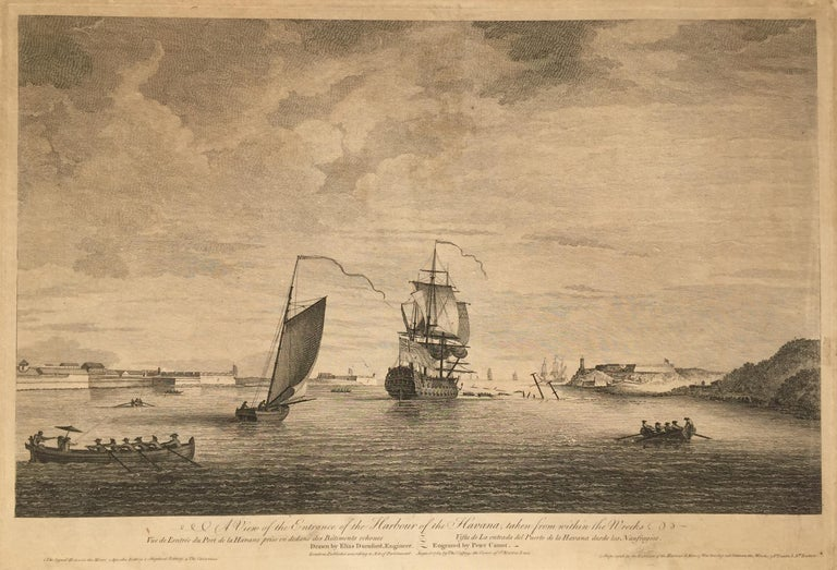 Early View of HAVANA HARBOR, Cuba - Print by Elias Durnford