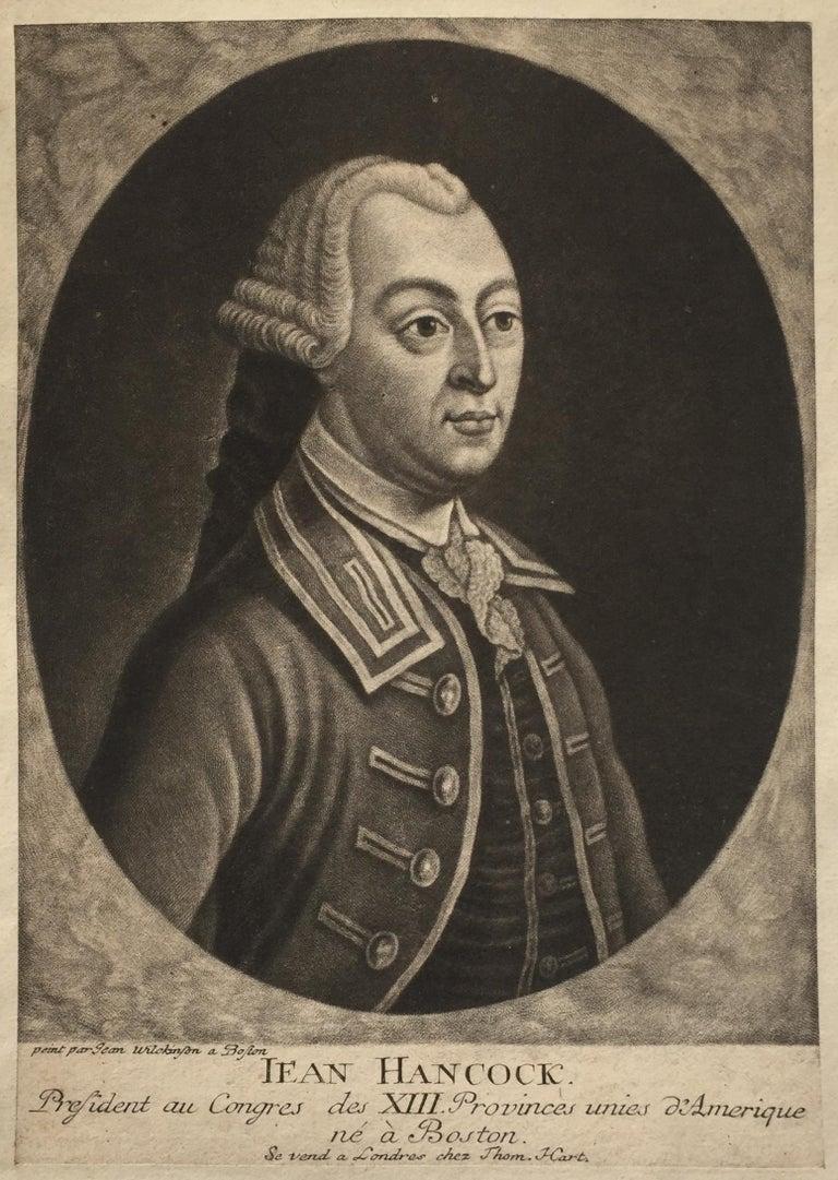 John Wilkinson Portrait Print -  JOHN HANCOCK - Lifetime Portrait  - Signer of the Declaration of Independence