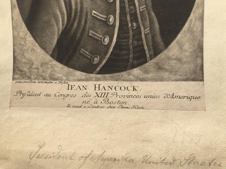 JOHN HANCOCK - Lifetime Portrait  - Signer of the Declaration of Independence  - Old Masters Print by John Wilkinson