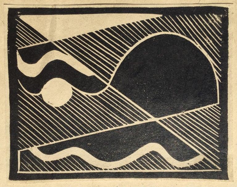 Erich Mueller-Kraus Abstract Print - THUNDER (Gewitten)