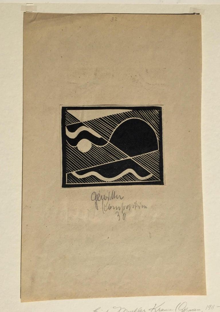 THUNDER (Gewitten) - Abstract Print by Erich Mueller-Kraus