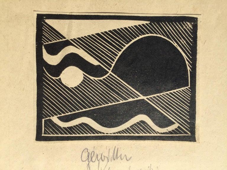 THUNDER (Gewitten) - Black Abstract Print by Erich Mueller-Kraus